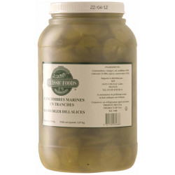 HAMBURGER DILL SLICED PICKLES 3.8L.