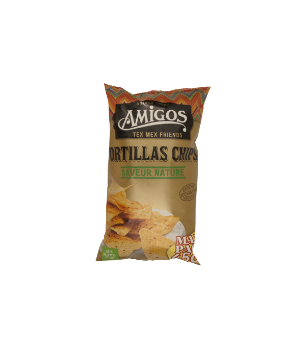 TORTILLAS CHIPS DE MAIS NATURE SACHET 450GR