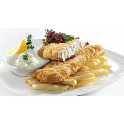 FISH & CHIPS CABILLAUD 120/140GR  X 5KG MALAISIE