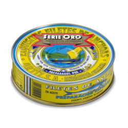 FILETS D ANCHOIS SERIE ORO BT 450GR A L HUILE D OLIVE