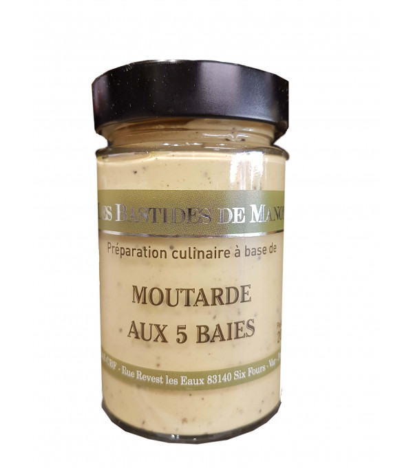 MOUTARDE 5 BAIES BOCAL 200GR