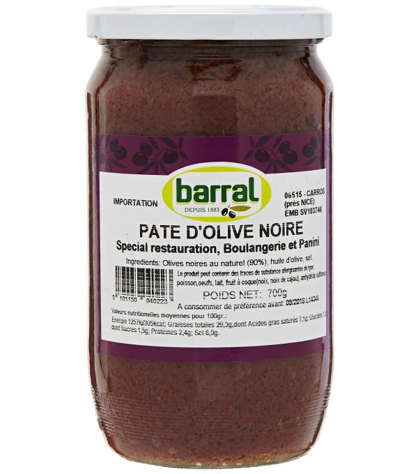 PATE D OLIVE NOIRE POT VERRE 78CL