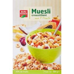 MUESLI AUX FRUITS ETUI CARTON 500GR