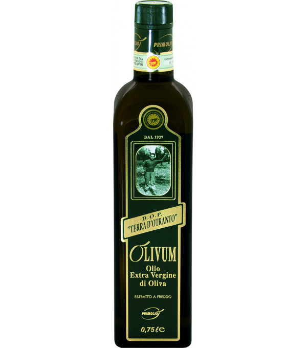 HUILE D OLIVE EXTRA VIERGE OLIVUM BT75CL DOP TERRA D OTRANTO ITALIENNE