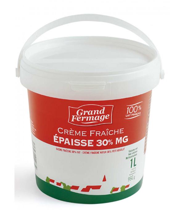 CREME FRAICHE EPAISSE 30% MG POT 1L