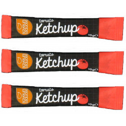 KETCHUP STICKETS 10GR X 500 U. LE CT.