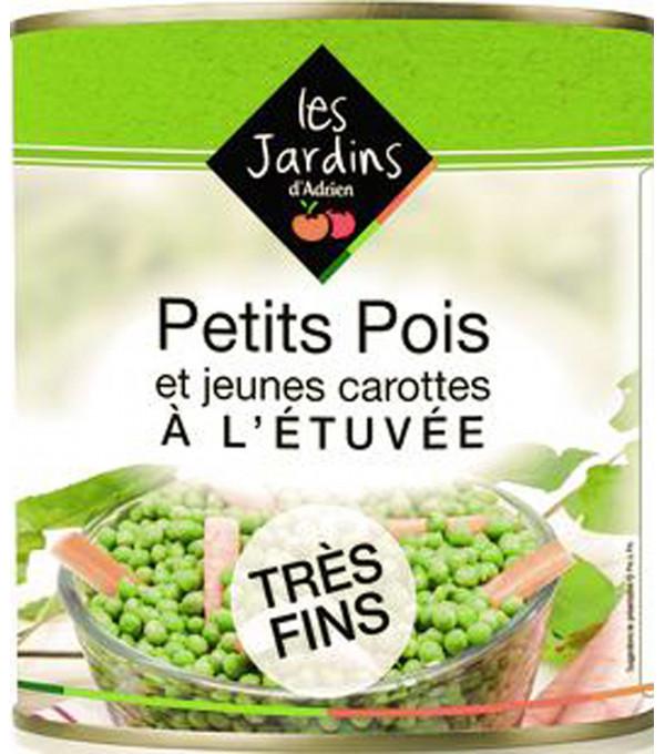 PETITS POIS EXTRA FINS ET CAROTTE BT 4/4
