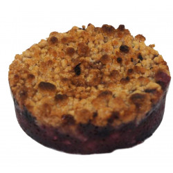 CRUMBLE POMME/FRUIT ROUGE 120GR X 20U CT