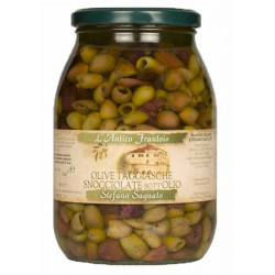 OLIVE TAGGIASCHE HUILE OLIVE BOCAL 900GR DENOYAUTEE
