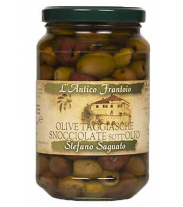 OLIVE TAGGIASCHE HUILE OLIVE BOCAL 300GR DENOYAUTEE