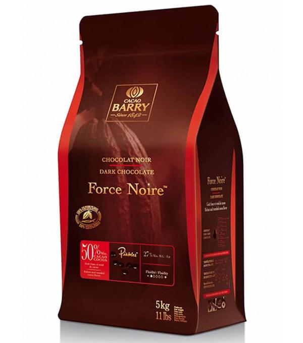CHOCOLAT FORCE NOIRE 50% CACAO PISTOLE CARTON 5KG