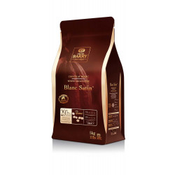 CHOCOLAT BLANC SATIN 29.2% CACAO PISTOLE CARTON 5KG
