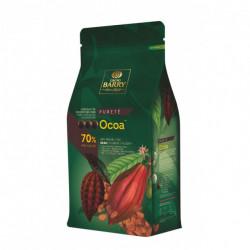 CHOCOLAT DE COUVERTURE OCOA 70% CACAO PISTOLE CARTON 5KG