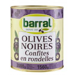 OLIVE NOIRE DENOYAUTEE EN RONDELLES 3/1