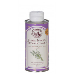 HUILE INFUSEE AU THYM & ROMARIN 25CL BIDON FER