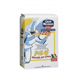 FARINE TYPE 00 PZ4 POUR PIZZA SAC 5KG LEVAGE 12 A 20 HEURES