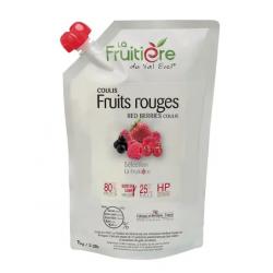 COULIS FRUITS ROUGES FRAIS POCHE 1KG 20% SUCRE DE CANNE